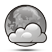 algo nublado